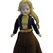 Precious Bisque Doll with Great Blonde Mohair Wig