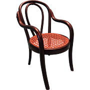 Miniature Bentwood Chair in the Thonet Style and Ebony Finish