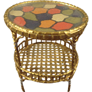 Gilt Soft Metal Round Table for Doll House