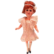 "7 1/2"" Flapper Doll with Swivel Neck Sleep Eyes Original Costume"