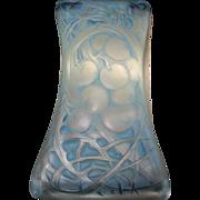 Rare RENE LALIQUE Crystal CERISES Ink Blotter Light Blue Patina Circa 1920 Signed