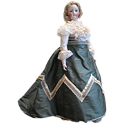 """SOLD 1867 Promenade Style Dress for a 21"""" Doll"""