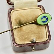 Victorian Blue Paste Horseshoe Stickpin
