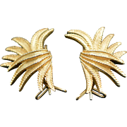 Vintage Marcel Boucher Wing Earrings - Pierced