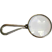 Art Deco Sterling Round Folding Magnifying Glass