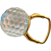 1969 Vendome Modernist Crystal Ball Ring