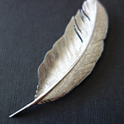 "Boucher Large 4""  Silver-Tone Leaf Brooch"