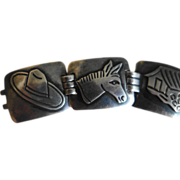 MEXICAN Taxco Damaso Gallegos Sterling Silver Bracelet