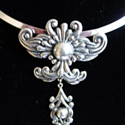 SALE Los Castillo Taxco Sterling Silver Pendant Necklace