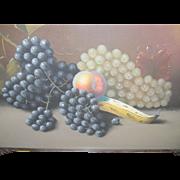 SALE Pastel Still Life Grapes & Fruit S. Humphrey