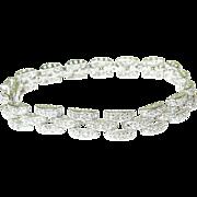 SALE Vintage Sterling Diamond Link Bracelet