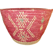 SALE Vintage Native American Woven Basket