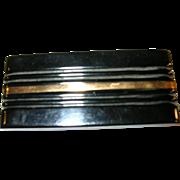 SALE Vintage Bakelite Art Deco Brooch Black