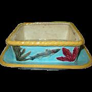 SALE Majolica Sardine Dish 1880's