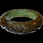 SALE Vintage Bakelite Bangle Heavily carved