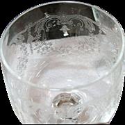 SALE Vintage Elegant Glass Stemware Acid Etched Design Set of 25