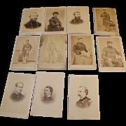 SALE Civil War Carte de Visite Generals & Lieutenants of New York Regiments Sheridan, Custer,
