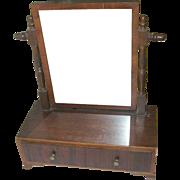 SALE Antique Vanity Mirror Footed