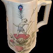 SALE English Pottery Pitcher Fairy Design