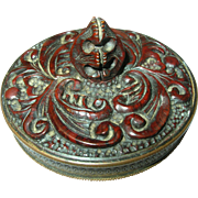 SALE Vintage Bakelite / Brass Compact