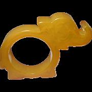 SALE Vintage Bakelite Napkin Ring Elephant