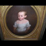 SALE Oil on Canvas Child Portrait 1820's