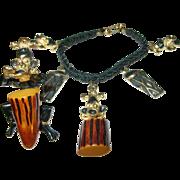 SALE Vintage Bakelite Bracelet / Brooch Set
