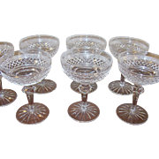 SALE Vintage Early Waterford Crystal Stemware Champagne/Sherbet Set of 7