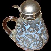 SALE Vintage Opalescent Syrup Pitcher 1890's