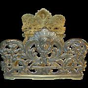 SALE Art Nouveau Bronze Extendable Book Rack