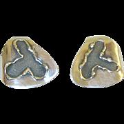 SALE H. Fred Skaggs Earrings Modernist Sterling