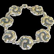 SALE Viking Craft Sterling Link Bracelet