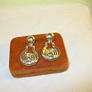 SALE Vintage Earrings Sterling Modernist Design