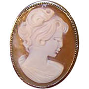 SALE Vintage  Shell Cameo Brooch/Pendant 800 Coin Silver