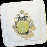 SALE Vintage Sterling Silver Modernest Ring