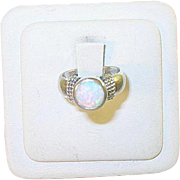 SALE Vintage Sterling Mexican Opal Ring
