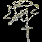 SALE Vintage Sterling LG Rosary