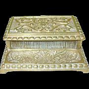 SALE Vintage Bronze Match Safe