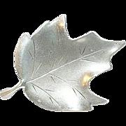 SALE Vintage Sterling Leaf Brooch by Stuart Nye