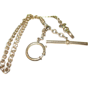 SALE Antique Watch Chain Toggle, Round Catch & Watch Hook