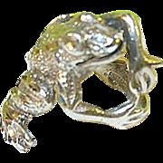 SALE Vintage Sterling Ring 3 Dimensional Frog Design