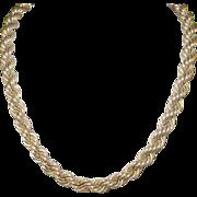 SALE Vintage Necklace Gold Filled Satin Finish