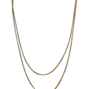 SALE Vintage Woven Necklace Gold Filled