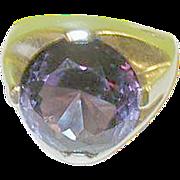 SALE Vintage Sterling Large Ring Faux Alexandrite