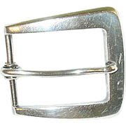 SOLD Vintage Sterling Belt Buckle