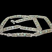 SALE Vintage Sterling & Turquoise Link Belt