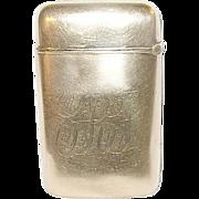 SALE Vintage Rolled Gold Match Safe