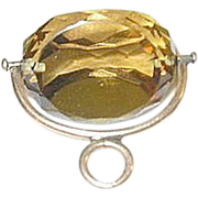 SALE Edwardian 14K Faceted Citrine Fob