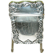 SALE Art Nouveau Sterling Match Safe Dragon Motif by E.I.R.