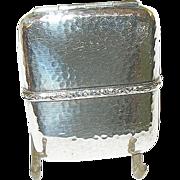 SALE Vintage Sterling Hand Hammered Match Safe by F.D.G.